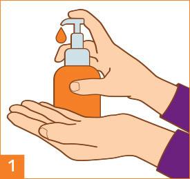 Schritt 1: Hände waschen und abtrocknen.