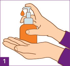 Schritt 1: Hände waschen und abtrocknen